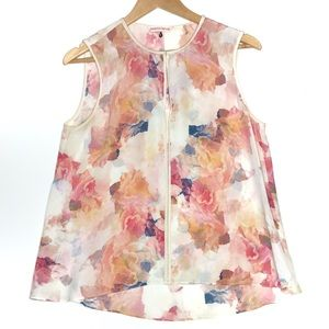 Rebecca Taylor   Silk Floral Top – Size 8